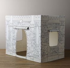 Really pretty Petite Castle canvas playhouse for kids. We like that you can roll it up easily when it needs to be put away.