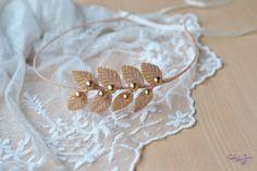 Wedding crown Peach bridal headband leaves gold crown Greek halo leaf crown peach gold wreath Roman Headband Wedding halo leaves tiara by Vualia on Etsy