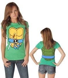 TMNT Teenage Mutant Ninja Turtles Costume Green Juniors T-shirt Tee - Listing price: $35.00 Now: $19.95