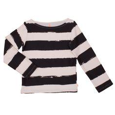 Loose Sailor Shirt black stripes XL   8yrs
