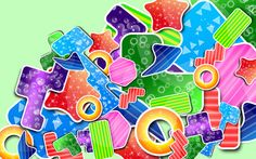 Colorful shapes wallpaper