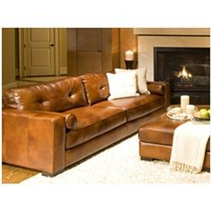 Have to have it. Soho Top Grain Leather Sofa in Rustic $1699.99