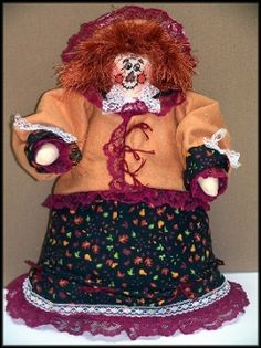 The Proper Scarecrow Nancy Handmade Victorian Scarecrow Doll By Linda Walsh