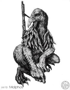 (39) MALPHAS (Goetic demon) influences those born 27/04 - 09/07 - 20/09 - 02/12 - 13/02. He speak with a hoarse Voice. He is a Mighty President and Powerful. He can build Houses and High Towers, and can bring to thy Knowledge Enemies' Desires and Thoughts, and that which they have done. He giveth Good Familiars. If thou makest a Sacrifice unto him he will receive it kindly and willingly, but he will deceive him- that doth it. He governeth 40 Legions of Spirits.