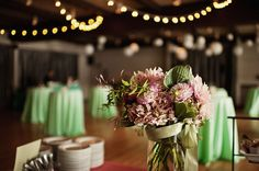 Who doesn't love mint? Gorgeous flowers by July Flower Design. Photo credit to Jeremy Leffel.