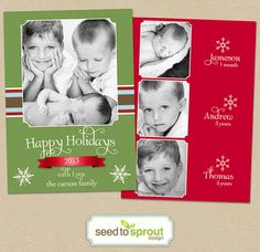 Sale! Christmas Photo Card  Holiday  4x6 or 5x7 by seedtosprout Photo Credit: Three Wishes Photography