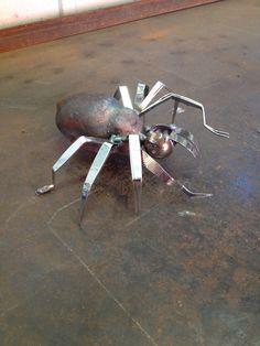 Spider with tweezer legs by crestcreatures