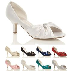 WOMENS WEDDING BRIDAL SHOES LOW HEEL Amazon.co.uk: 22 Brit pounds!!  Would have to send to Kara's?!  (TURQUOISE)