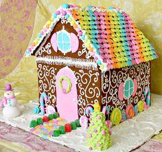 Rainbow Gingerbread House