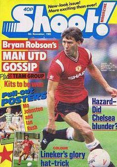 Shoot! magazine 9th Nov 1985 ft. Bryan Robson - Man United