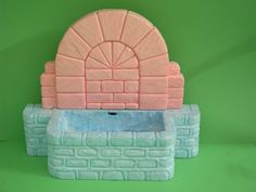Pared y pozo de la fuente Diy Nativity, Christmas Nativity Scene, Foam Crafts, Miniture Things, Vintage Art, Decoration, Projects To Try, Decorative Boxes, Fun