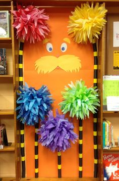 Door Ideas For Classroom Dr. Seuss The Lorax 39 Ideas Door Ideas For Classroom Dr. Seuss The. Dr. Seuss, Dr Seuss Day, Dr Suess Books, Dr Seuss Lorax, Halloween Classroom Door, Minion Halloween, Diy Halloween, Dr Seuss Trees, Dr Seuss Activities