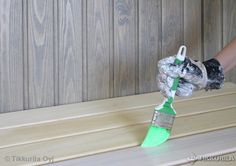 Sauna kauniiksi   Kylpyhuone - Tikkurila Oyj   Kotimaalarit   Ideat Home Appliances, Dyson, Vacuums, Cottage, Country Cottage, Sauna Design, Cleaners, Dyson Vacuum