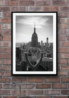 NEW YORK POSTER, Empire State Building, Black and White Photograph, Wall Decor, Homeware. £12.00, via Etsy.