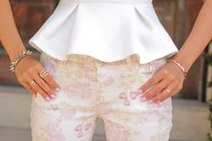 pretty in peplum & print pants....