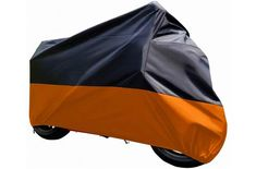 ILM Motorcycle Cover Waterproof Sunblock Dustproof Outdoor Garage Motor Cover with 3 Adjustable Buckles XXXL Fit up to Harley Davidson Honda Suzuki Kawasaki Yamaha Ducati KTM BMW(Orange) Motorcycle Cover, Bike Cover, Enduro Motorcycle, Harley Road Glide, Harley Electra Glide, Kawasaki Nomad, Triumph Rocket, E 500, Yamaha V Star