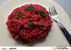 Risotto s červenou řepou recept - TopRecepty.cz