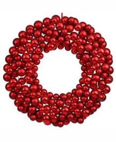 Shop for Vickerman Red-colored Ball Wreath. Get free delivery On EVERYTHING* Overstock - Your Online Christmas Store! Christmas Ornament Wreath, Red Ornaments, Christmas Decorations, Bauble Wreath, Christmas Store, Christmas Balls, Red Christmas, Christmas Ideas, Christmas Booth