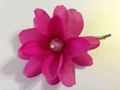 Fuchsia Flower Girl Hair Pin Flower Girl Hair by BlissfulPetals, $4.00