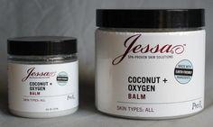 COCONUT + OXYGEN BALM (1/4OZ, 4OZ, 16OZ) $15.00  #jessaskincare #coconut #oxygenbalm #organicskincare