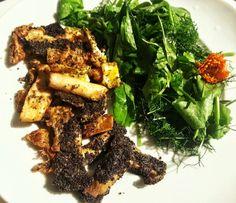 1 Gericht 3 Varianten, Kräuterseitlinge in Mohnhülle. PALEO, vegetarisch oder vegan, ganz nach Belieben!