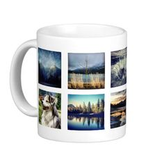 Show off ten of your favorite instagram photos with this quick and easy photo collage mug. Arranged in a simple grid pattern with five and five, designed for photos with or without borders, although it would look best if they are all the same. Perfect for scenic landscapes, gritty shots, family members, even selfies! (I use instaport to download my stream.) Sample photos are all my own, other than the pink baby which is publicdomainpictures.net and must be replaced with your own. #create ...