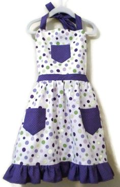 Polka Dot Apron Children's Apron Toddler apron by KelleenKreations