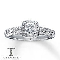 Tolkowsky® 14K Gold 1 Carat t.w. Diamond Engagement Ring