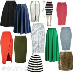 SKIRTS for Inverted Triangle Body Shape: Printed Pencil Skirts, Horizontal Lines,  Wrap Skirts, and Bright Colors on bottom half