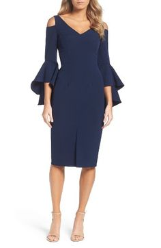 Free shipping and returns on Maggy London Cold Shoulder Dress at Nordstrom.com. Cold-shoulder cutouts and flowy bell sleeves create a contemporary-cool silhouette in this night-out dress.