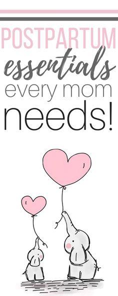 Postpartum Essentials for Every Mom | justsurvivingmotherhood.com