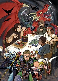 Dice and Dragons by *weremole on deviantART