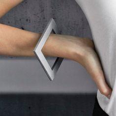The dynamic concrete SET bracelet worn - concrete jewelry by KON ZUK  - entrenous by LE NOEUD www.enbyln.com