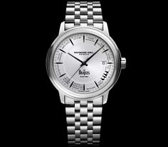The limited edition Beatles Maestro from Raymond Weil has landed! This special timepiece marks the Brand's anniversary and celebrates the greatest music band of all time. Limited to pieces available in North America. Beatles Albums, The Beatles, Patek Philippe, Tag Heuer, Stainless Steel Bracelet, Stainless Steel Case, Rolex, The Gentlemans Journal, Versace