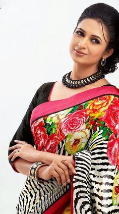 Beautiful Bollywood Actress, Most Beautiful Indian Actress, Beautiful Actresses, Indian Tv Actress, Indian Actresses, Beauty Full Girl, Beauty Women, Divyanka Tripathi Saree, Tv Actress Images