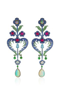 Floral Earrings by Lydia Courteille