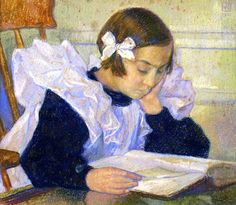 """Elizabeth reading"", Theo van Rysselberghe (Belgian artist, 1862-1926) (via Reading and Art)"