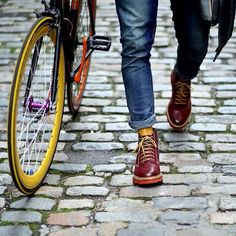 Don't be afraid to show your socks men! But make sure it matches your shoes, or your bike ;-)