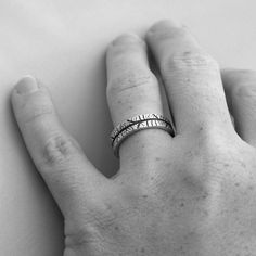 Wedding Set of TWO Bands WIDE and NARROW Any by SilverTreeLeaf, $199.00