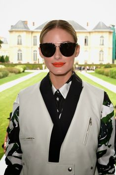 9ed137377b8b Stylish sunglasses are Trending at Fall Winter 2014 Paris Fashion Week  Front-Row. Olivia Palermo wearing round sunnies Front-Row at Christian Dior  FW 2014 ...
