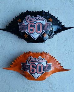 Baltimore Orioles Crab Shells by SharonsPaintedWoods on Etsy. $10 https://www.etsy.com/listing/183452494/baltimore-orioles-crab-shells?
