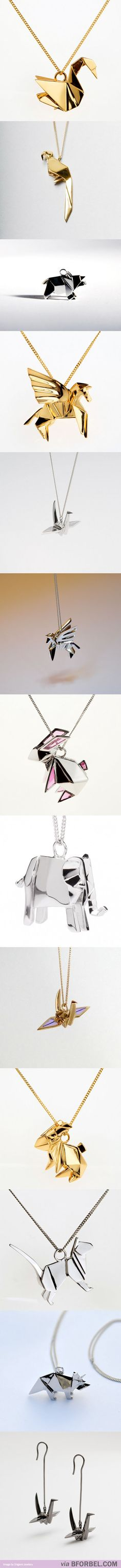 Oragami Necklaces