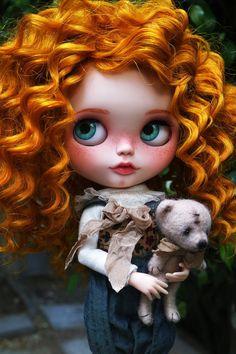 RESERVED OOAK Custom Blythe Doll MEHGAN by Cihui by BlythebyCihui