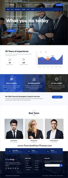 BiziPress is clean and modern design responsive #WordPressTemplates for #finance and #insurance company website with 18+ niche homepage layouts to download & live preview click on image or Visit  #webdev