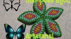 mariposa en macrame paso a paso - YouTube
