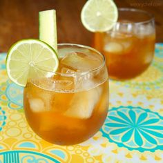 This Ginger Lime Pimm's Cocktail with fresh ginger is a new twist on the classic Pimm's Cup.