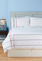 Not only is it awesome on it's on but you can draw and right notes on this bedding!