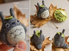 Totoro-needle felting Totoro, Needle Felting, I Shop, Hands, Sculpture, Christmas Ornaments, Sewing, Holiday Decor, Cute