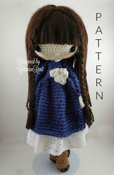 Matilda - Amigurumi Doll Crochet Pattern PDF by CarmenRent on Etsy