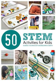 Hands On STEM Activities for Kids STEM Activities for Kids featuring activities in Science, Technology, Engineering and Math for kids at The Educators' Spin On It Kid Science, Stem Science, Preschool Science, Summer Science, Forensic Science, Computer Science, Steam Activities, Science Activities, Activities For Kids
